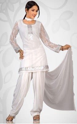 White Eastern Outfits