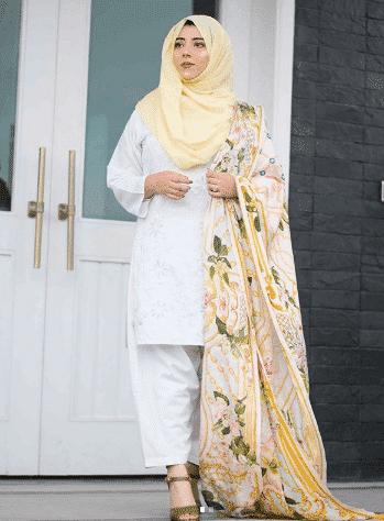 white-shalwar-kameez-6 30 Ideas On How To Wear White Shalwar Kameez For Women
