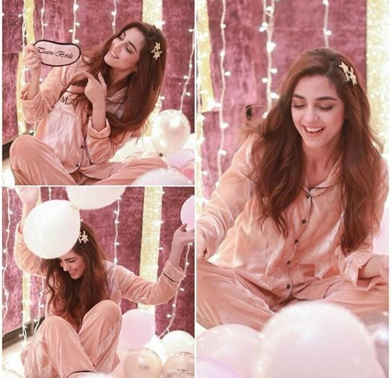 Midnight-silk-pajamas-birthday-outfit 18 Birthday Outfits For Pakistani Girls-Party Wear Ideas 2019