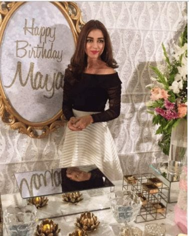 maya-ali-birthday-outfit 18 Birthday Outfits For Pakistani Girls-Party Wear Ideas 2019