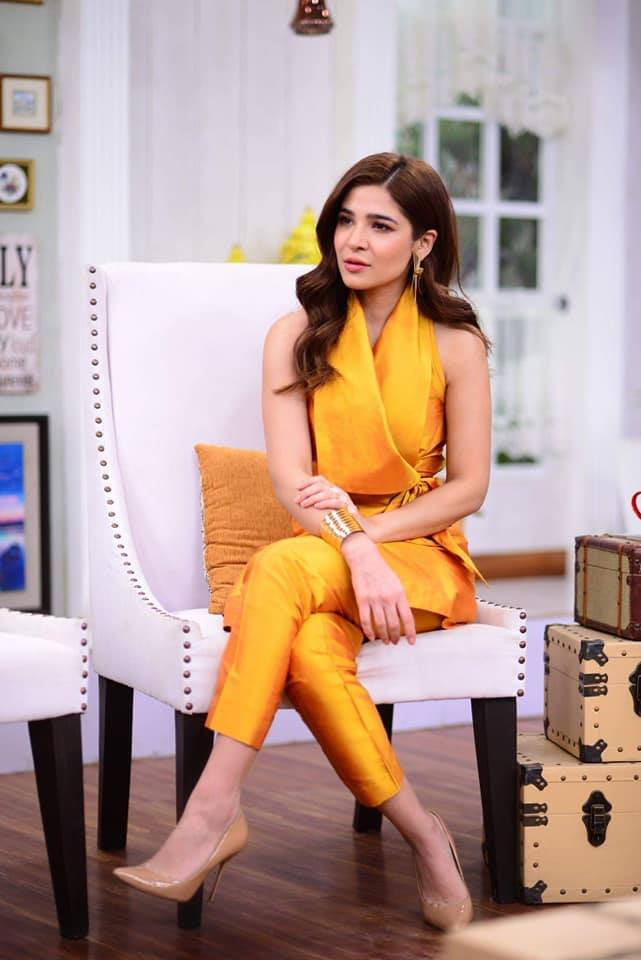 mustard-Anghrakha-dress 18 Birthday Outfits For Pakistani Girls-Party Wear Ideas 2019