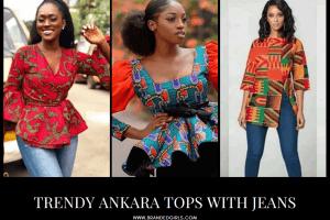 Ankara Tops With Jeans – 20 Ways To Wear Ankaras With Jeans