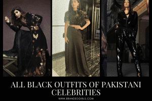 14 Stylish All-Black Outfits Worn By Pakistani Celebrities