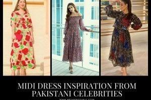15 Best Midi Dresses of Pakistani Celebrities Influencers