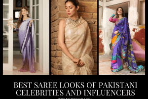 Top 25 Saree Styles of Pakistani Celebrities and Influencers