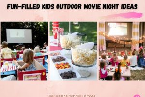 15 FunFilled Kids Outdoor Movie Night Party Ideas In 2021